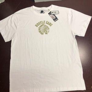 White Hustle Gang Indian head T-shirt 2XL